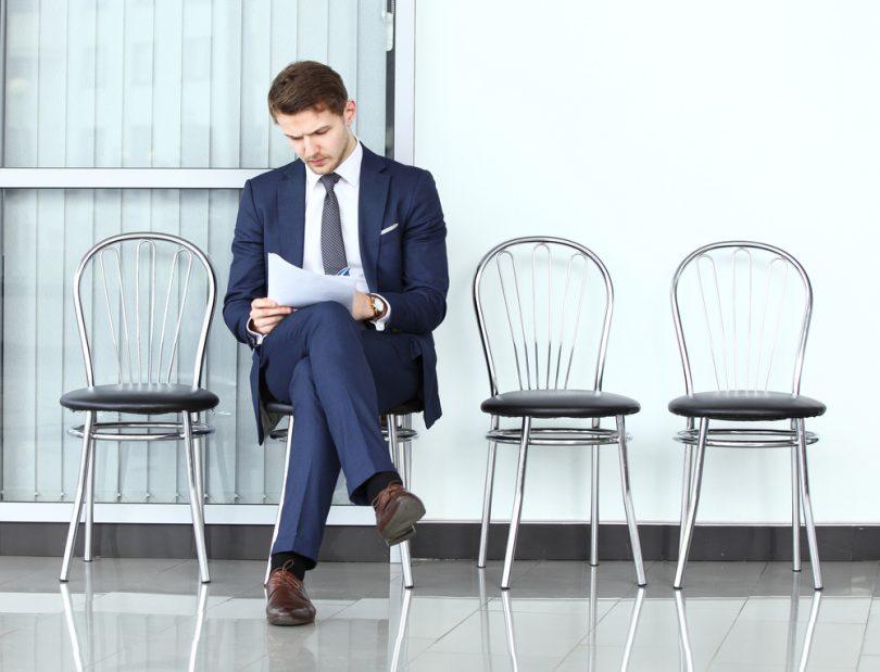 Человек перед успешным собеседованием на работу