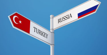 Russia Turkey High Resolution Sign Flags Concept