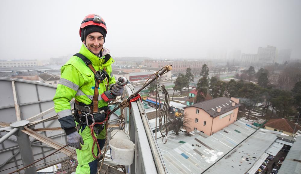Услуги промышленный альпинизм высотные работы