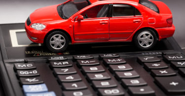 red car with black calculator