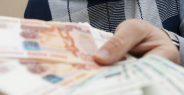 The pack of rubles waits for that will spend it in shop or in the market