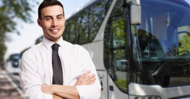 Portrait of a bus driver