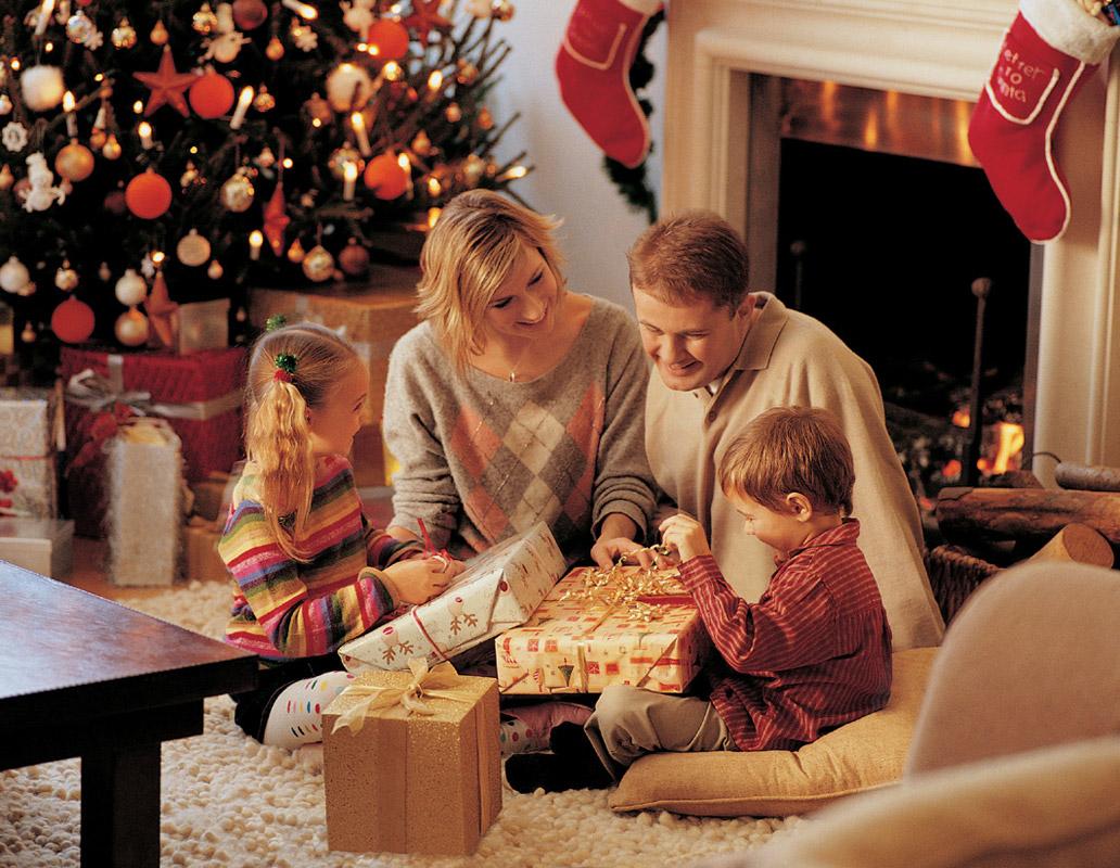 Картинки с семьей на новый год